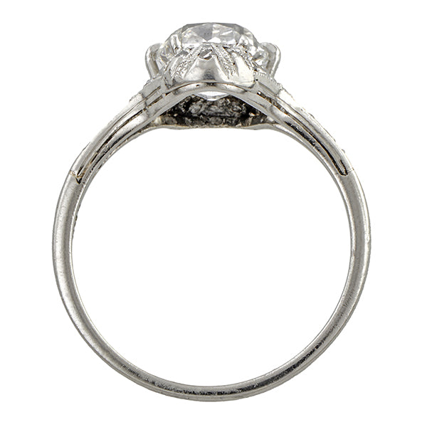 Antique Engagement Ring, Cushion cut 1.56ct.