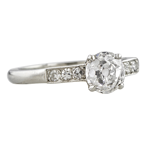 Vintage Engagement Ring, Old European 1.13ct