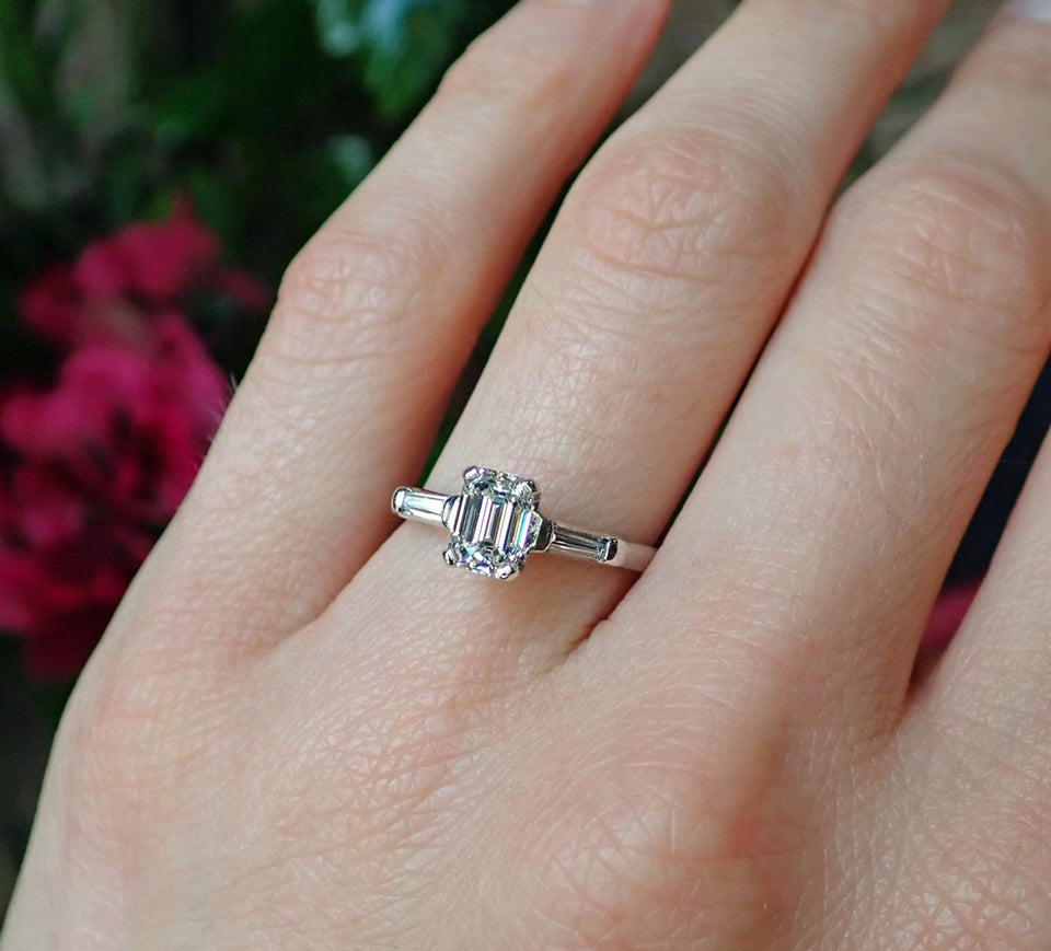 Vintage Engagement Ring, Emerald cut 1.01ct. from Doyle & Doyle 107251R