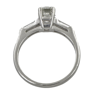 Vintage Engagement Ring, Emerald cut 1.01ct.
