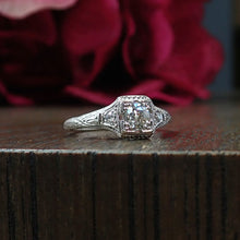Art Deco Engagement Ring, Old European 0.34ct
