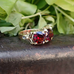 Vintage Garnet Three-Stone Ring