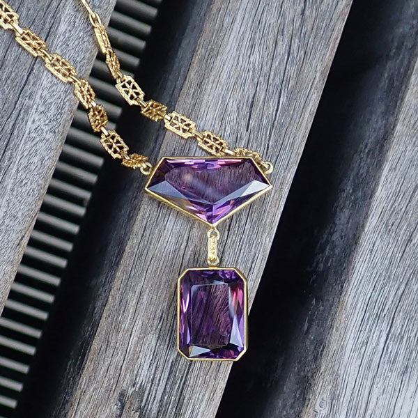 Vintage Amethyst Necklace