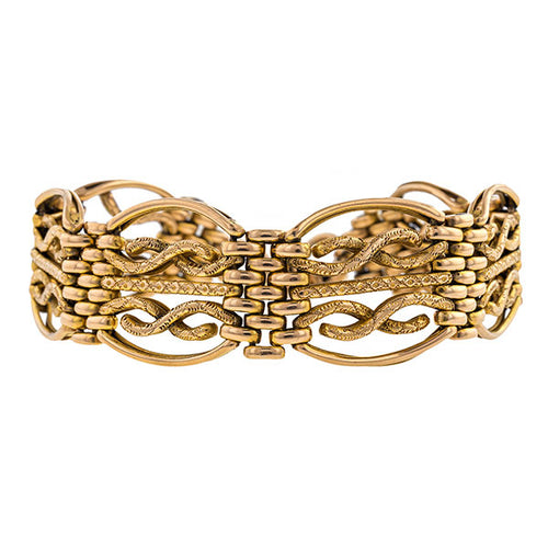 Antique Gate Link Bracelet
