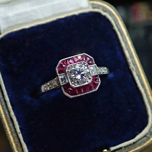 Vintage Diamond Engagement Ring, RBC 0.38ct