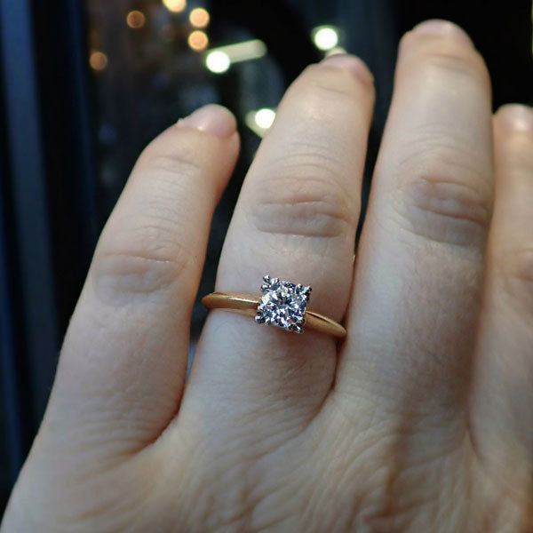Vintage Diamond Solitaire Engagement Ring, TRB 0.51ct.