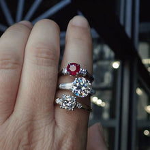 vintage diamond engagement rings ruby ring