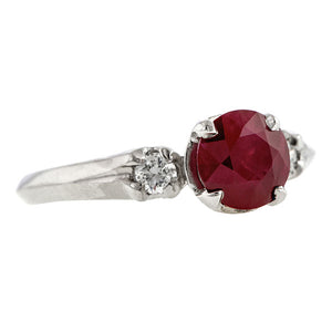 Vintage Ruby & Diamond Ring, 1.15ct