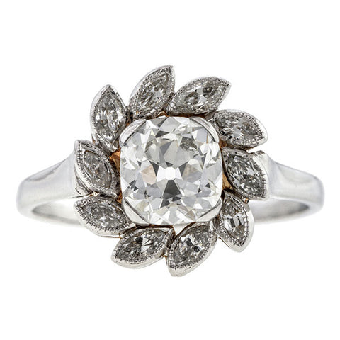 Vintage Diamond Flowerhead Ring