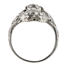 Art Deco Diamond Engagement Ring, Marquise 1.01ct.