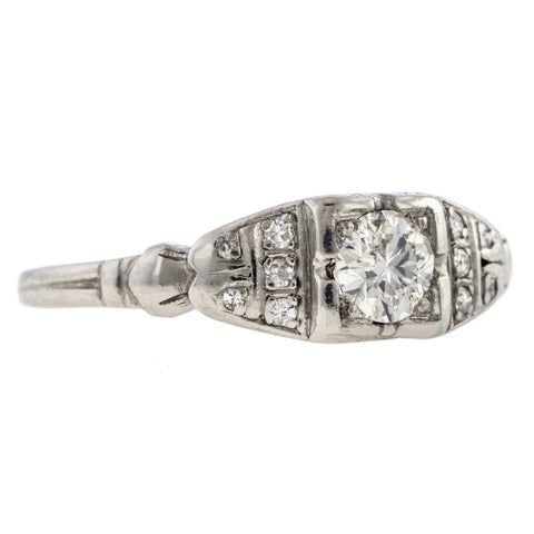 Art Deco Diamond Engagement Ring, RBC 0.29ct.
