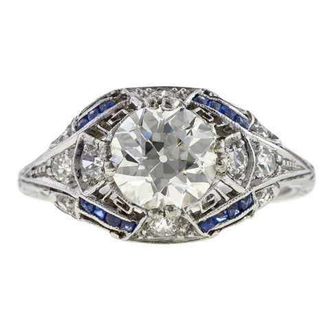 Art Deco Engagement Ring, 1.32ct.