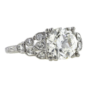 Art Deco Engagement Ring, 2.26ct.