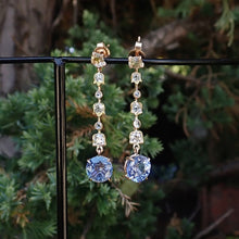 Rose cut diamond and sapphire drop earrings from Doyle & Doyle
