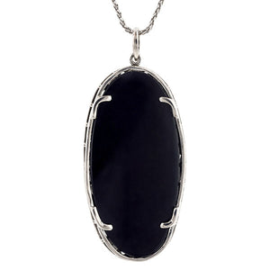 Art Deco Onyx & Diamond Necklace