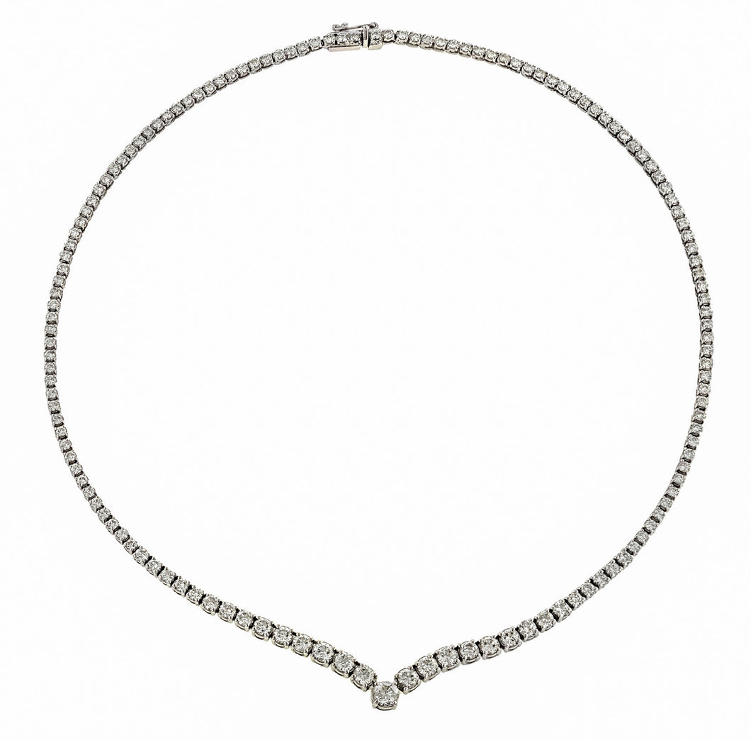 Estate Diamond Riviere Necklace