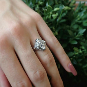 Art Deco cushion cut diamond filigree engagement ring Doyle & Doyle 107532R