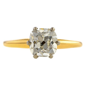 Vintage Solitaire Diamond Engagement Ring, 1.54ct.