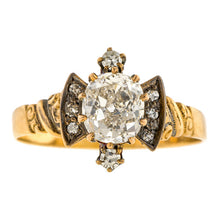 Victorian Diamond Engagement Ring, 1.26ct.::