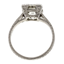 Art Deco Square Step Cut Diamond Solitaire Engagement Ring, 2.85ct.::