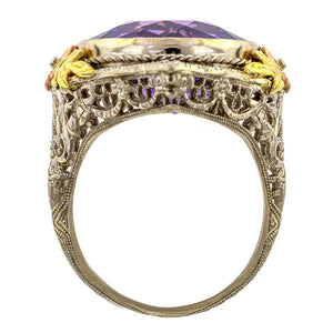 Vintage Amethyst Filigree Ring