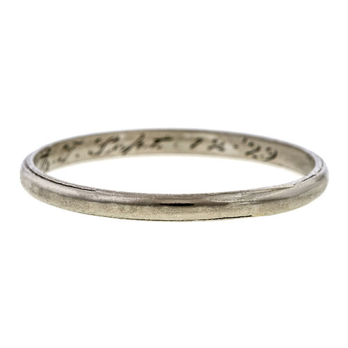 Vintage Half Round Wedding Band Ring