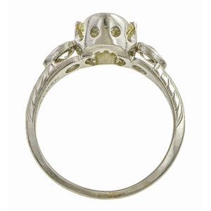 Vintage ring: a Platinum Old European Cut Diamond 1.31ct Engagement Ring sold by Doyle & Doyle vintage and antique jewelry boutique.