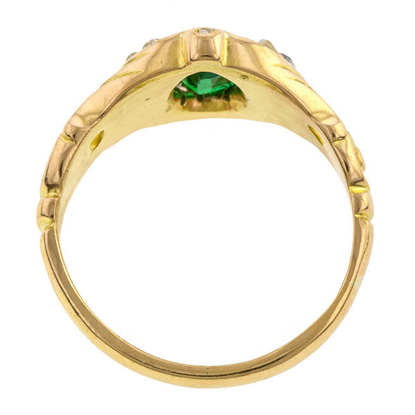 Victorian Emerald & Diamond Ring