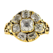 Georgian Old Mine Cut Diamond Cluster Ring from Doyle & Doyle 107666R