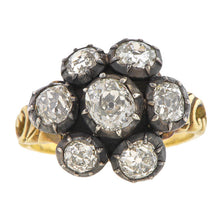 Old Mine Diamond Cluster Ring