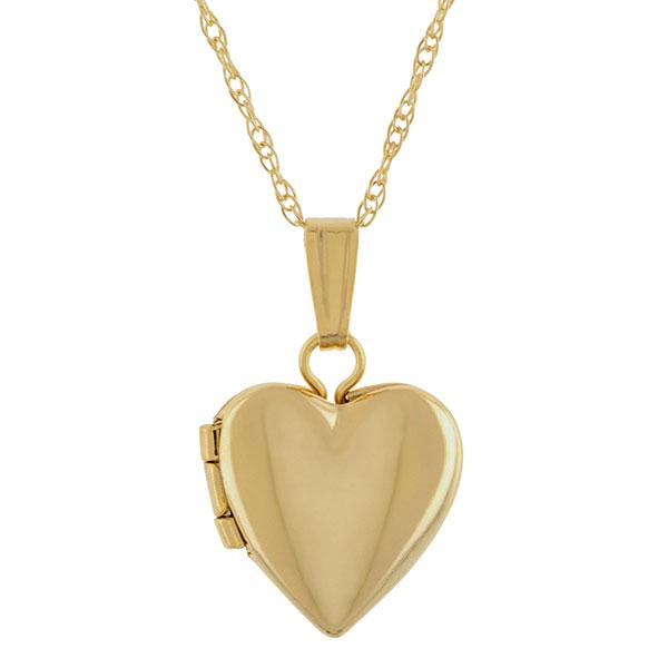 Petite Heart Locket Necklace