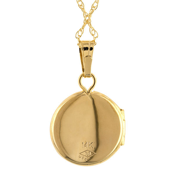 Petite Round Locket Necklace