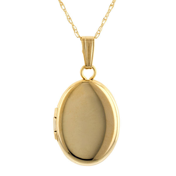 Petite Oval Locket Necklace