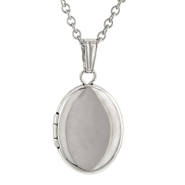Silver Oval Locket