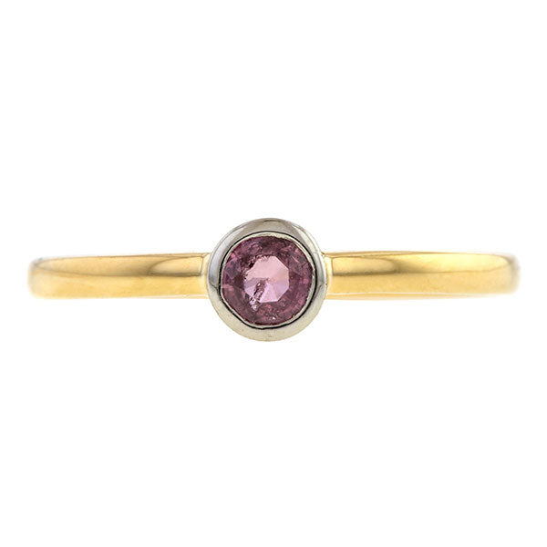 Bezel Set Pink Sapphire Ring, 0.30ct., Heirloom by Doyle & Doyle