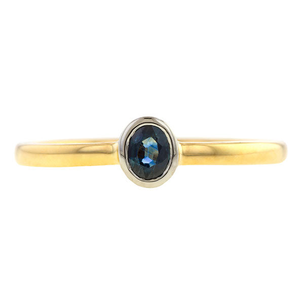 Bezel Set Sapphire Ring,0.25ct., Heirloom by Doyle & Doyle
