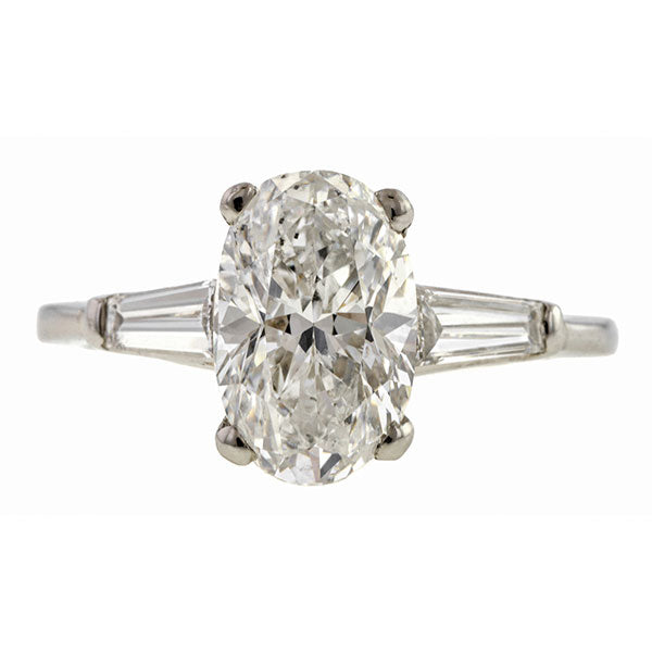 Estate Oval Diamond Engagement Ring, 2.25ct