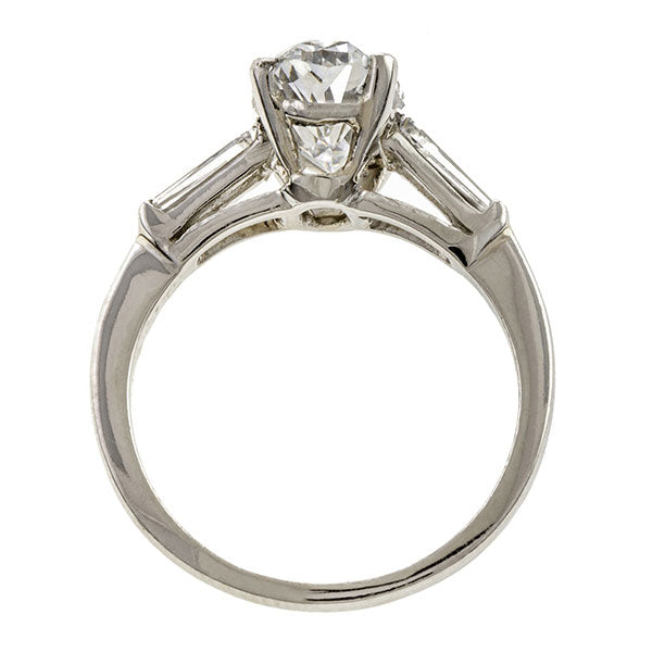 Estate ring: Platinum Engagement Ring, Oval Diamond 2.25ct., sold by Doyle & Doyle an antique and vintage jewelry store.