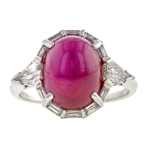 Art Deco Star Ruby & Diamond Ring