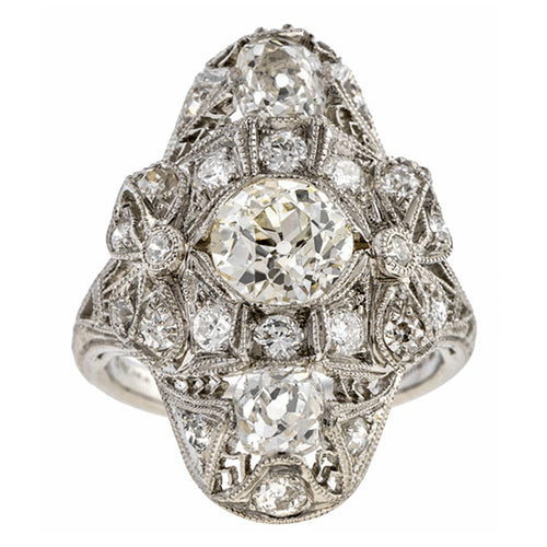 Art Deco Diamond Dinner Ring