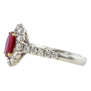 Estate Natural Ruby & Diamond Ring