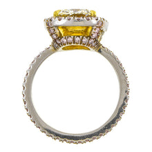 Estate Engagement Ring, Cushion cut Diamond, sold by Doyle & Doyle an antique and vintage jewelry store.