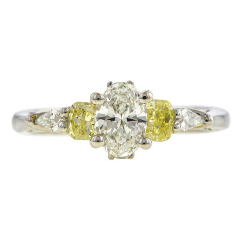 Oval Diamond Engagement Ring, 0.68ct.