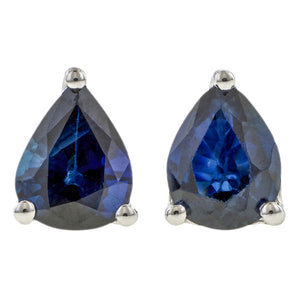 Pear Faceted Sapphire Earrings
