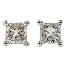 Square Diamond Stud Earrings, 0.36ctw.