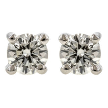 Round Diamond Stud Earrings, 0.20ctw.
