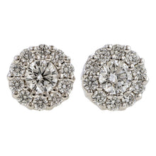 Diamond Cluster Earrings, 0.34ctw