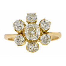 Vintage Flowerhead Engagement Ring Cushion 1.04ct