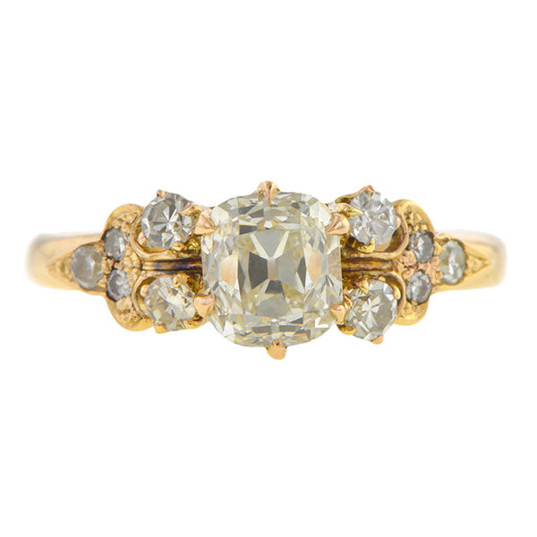Vintage Engagement Ring, Old Mine cut 1.03ct
