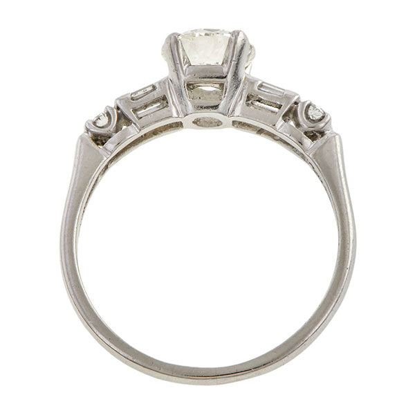Vintage Engagement Ring, Round Brilliant cut 1.06ct